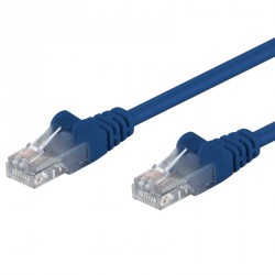 Patch Ethernet Cat.5E U/UTP, 30cm, Blu