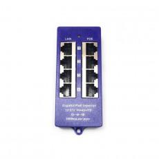 PoE Injector Gigabit 4 porte 12-57V Modo B