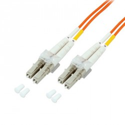 Optical fiber patch cord LC-LC 50/125µ 1m
