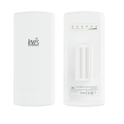 Wisnetworks 5GHz,2*2 MIMO, Weatherproof ABS Plastic, WiD TDMA, 16dBi dual-polapanel, 1*100M Ethernet ,24V Passive PoE,
