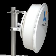 SPR4965-D6G30-SH Solid Dish Shrouded antenna Dual pol. 4.9-6.5GHz 60cm 30dBi