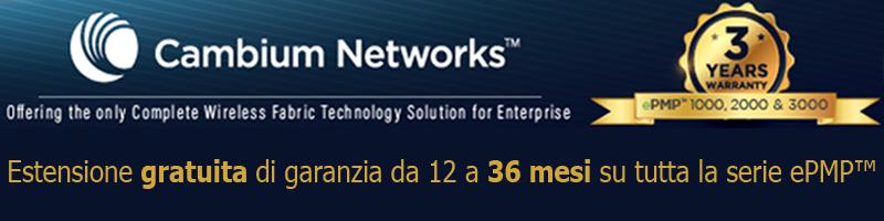 3 Anni Garanzia Cambium Networks ePMP Series